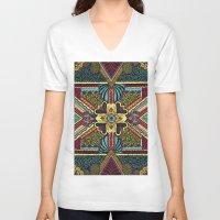 persian V-neck T-shirts featuring Persian by Guanabana