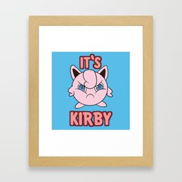 It's Kirby Framed Art Print