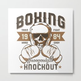 Sports - Heavyweight - Knockout Metal Print