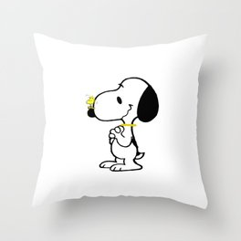 snoopy_with friend Throw Pillow
