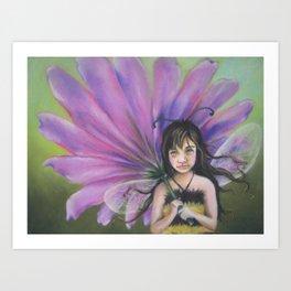 Z imagination Bee Girl Art Print
