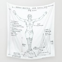Victory Drawing, Transitions through Triathlon Wall Tapestry