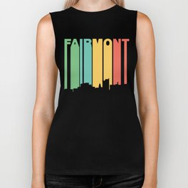 Retro 1970's Style Fairmont West Virginia Skyline Biker Tank