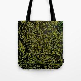 Glowing monkey, digital lino print Tote Bag