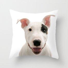 Bull Terrier Dog Throw Pillow