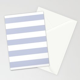 Light periwinkle - solid color - white stripes pattern Stationery Cards