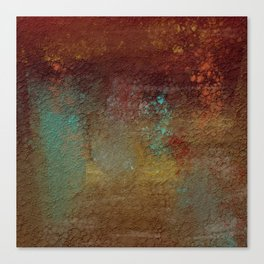 Copper, Gold, and Turquoise Textures Canvas Print