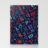 alphabet Stationery Cards featuring Alphabet  by cactus studio