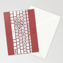 Photoshop Keyboard Shortcuts Red Stationery Cards