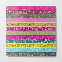 Egyptian hieroglyphs No2 Metal Print
