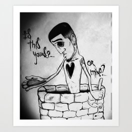 Is this yours or mine? Art Print