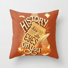History Throw Pillow