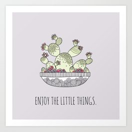 Enjoy the Little Things Lilac Art Print