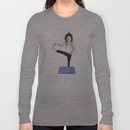 Yoga Folks. Balancing Pose.   Long Sleeve T-shirt