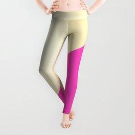 Modern hot pink & gold color block Leggings