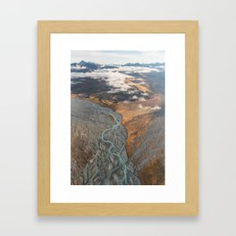 Veins of the Godley River, New Zealand Framed Art Print