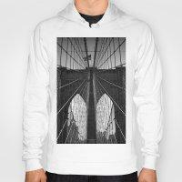 brooklyn bridge Hoodies featuring Brooklyn Bridge by Photos by Vincent
