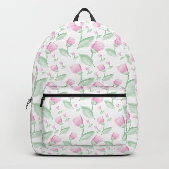 Watercolor tulips Backpack