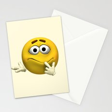 Confused Emoticon  Stationery Cards