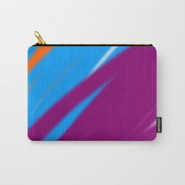 Wintage lines pink blue Geom. Carry-All Pouch