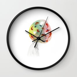 Swimming in my own thoughts Wall Clock