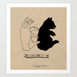 Hand-shadows Art Print