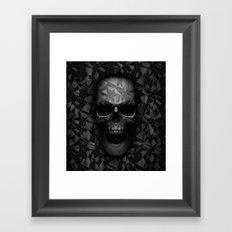 Geometric Skull Framed Art Print