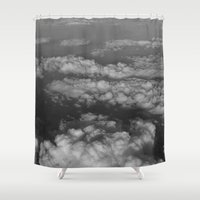 cloud Shower Curtains featuring cloud by habish