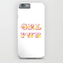 GRL PWR | Original Pink, Orange and Yellow iPhone Case