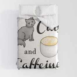 Cats and Caffeine Comforters
