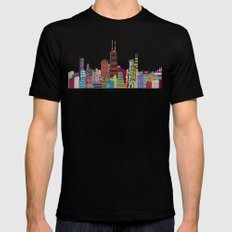 Chicago  Black LARGE Mens Fitted Tee