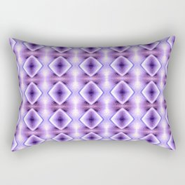 Blue Purple Geometric Diamond Pattern Design Rectangular Pillow
