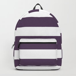 Old heliotrope - solid color - white stripes pattern Backpack