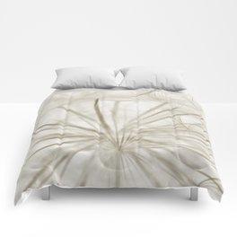 Dandelion Neutral Closeup Comforters