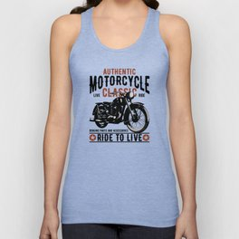 Classic Mororcycle Unisex Tank Top