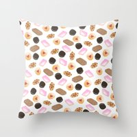 cookies Throw Pillows featuring Cookies! by Sylvia Morris