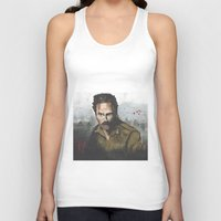 rick grimes Tank Tops featuring Walking Dead -Rick Grimes by NorthLight