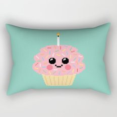 Happy Pixel Cupcake Rectangular Pillow