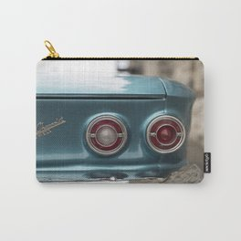 Vintage Chevy Turquoise Blue & Red Carry-All Pouch