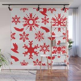 Snowbird Pattern Wall Mural