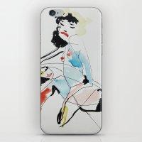 women iPhone & iPod Skins featuring Women by Beste Taş