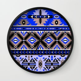 Boho Navajo Geometric Pattern Var. 2 Wall Clock