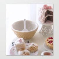 baking Canvas Prints featuring Baking Serenity  by Miniature Love