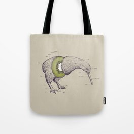 Kiwi Anatomy Tote Bag