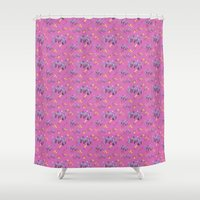 pasta Shower Curtains featuring Mushroom pasta by canigrin