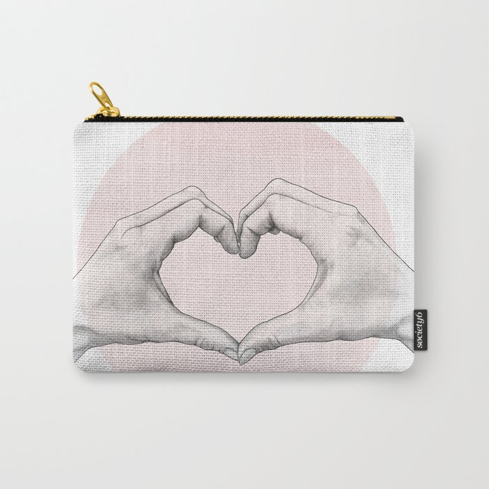 heart in hands // hand study Carry-All Pouch