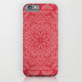 Holly Berry Mandala 1 iPhone Case