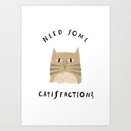 Catisfaction No. 8 Art Print