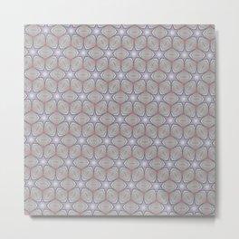 Metallic star grid Metal Print