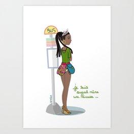 Je suis quand même une Princesse by MiHaM Art Print